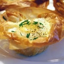 Egg in a Basket with Shiitake Mushrooms