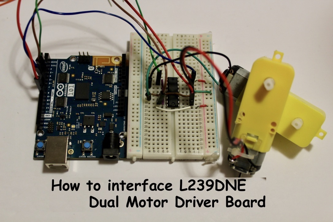 Picture of Control 2 Motors With the L293DNE Dual Motor Driver IC and Arduino 101