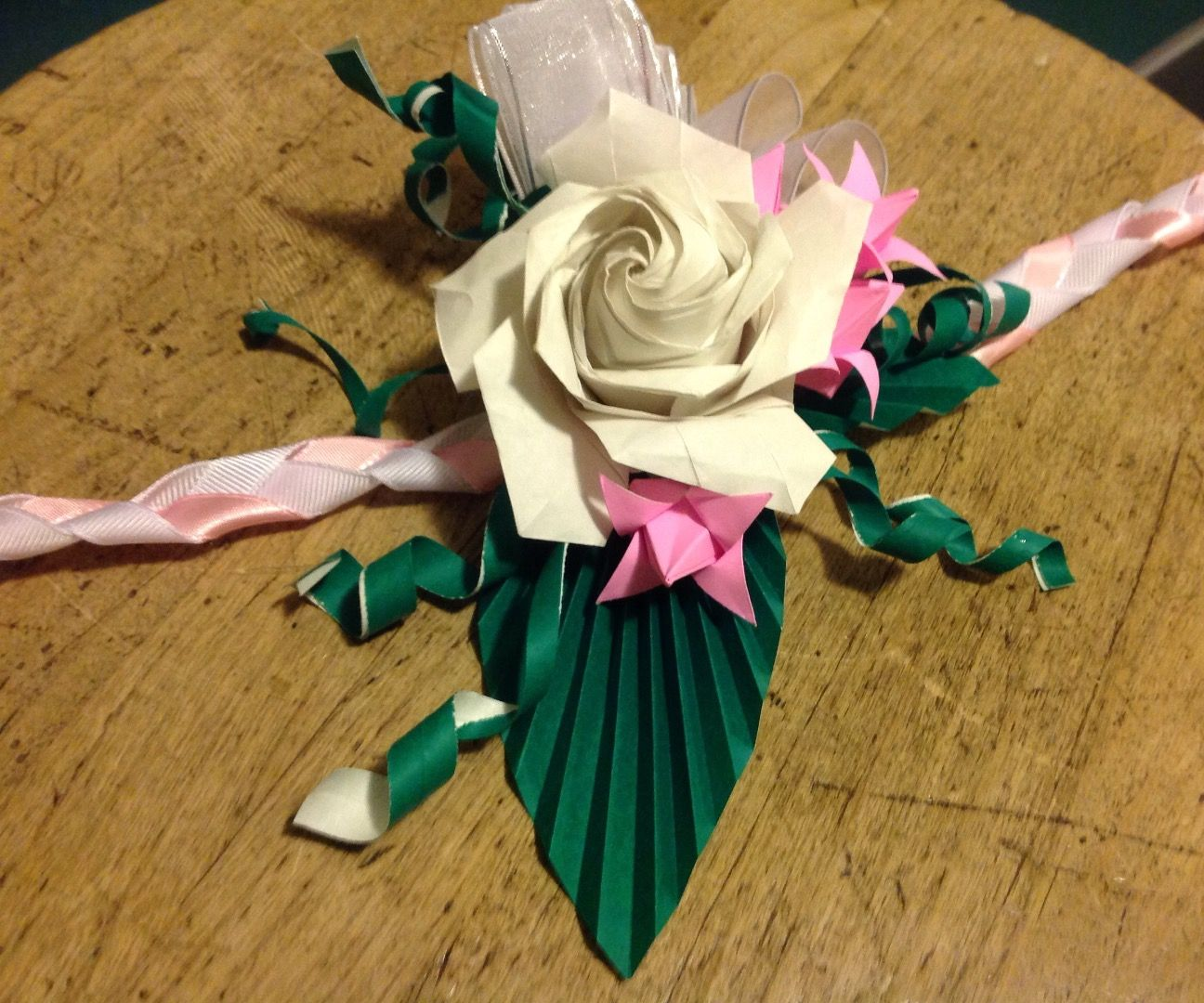 Origami Corsage 7 Steps With Pictures