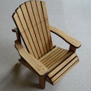 Bamboo Adirondack Chair (Scale Model)