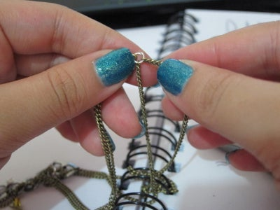 Step 12: Attach Loose Chains to Correct Jumpring