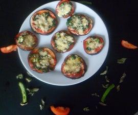 Flourless Mini Egg Plant Pizzas