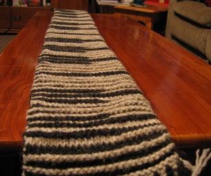 My Shadow Knit Piano Scarf