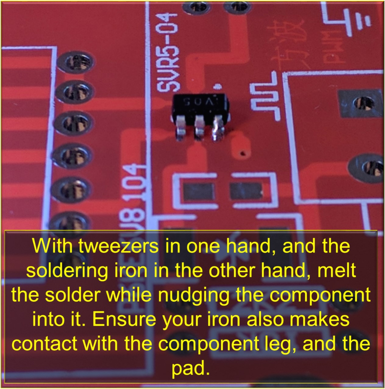 Picture of Solder the Component