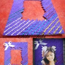Purple Photo Frame(easy to make)