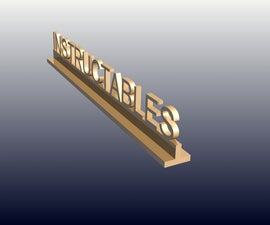 Digital Manufacturing - project two desk name plate
