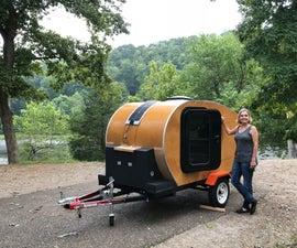 Teardrop Camper Made of Wood