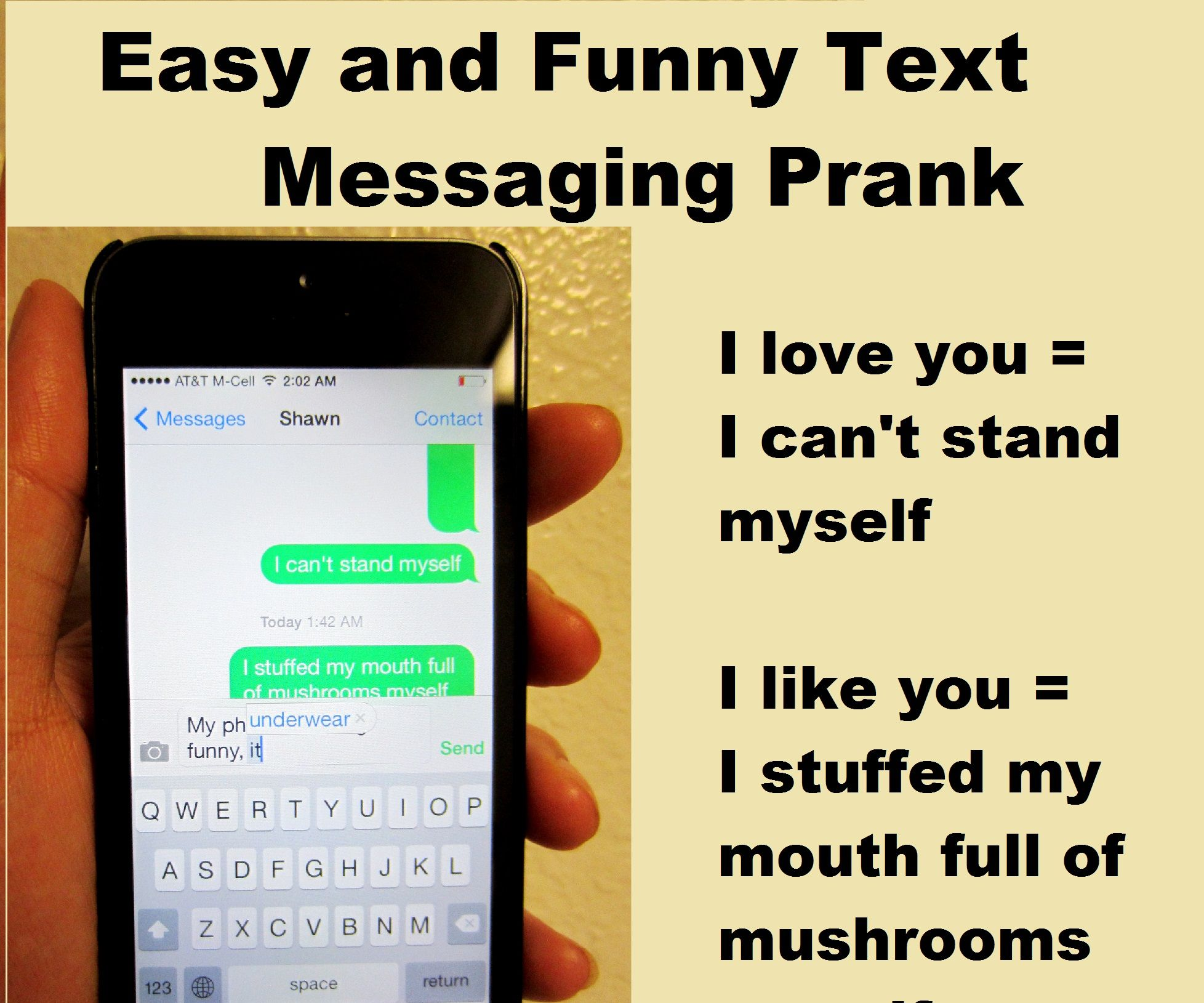 Send funny text messages to my phone