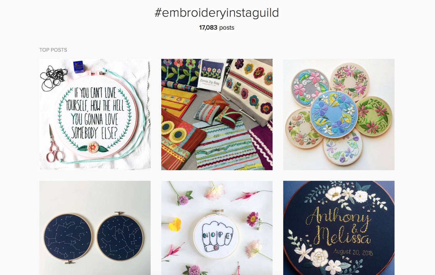 Browse Embroidery on Instagram