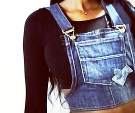 DIY Overalls Top From Old Jeans