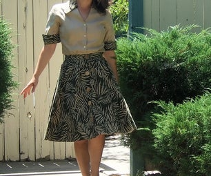 Upcycle a 90's Skirt Into 50's Outfit