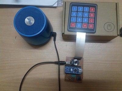 Arduino Keyboard Piano With 8 Bit R2R DAC