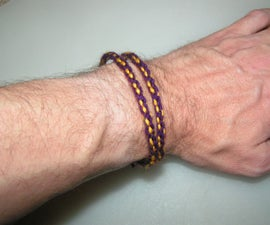 How to weave medieval cords for trimming, bracelets or necklaces.