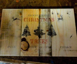 Rustic Pallet Sign
