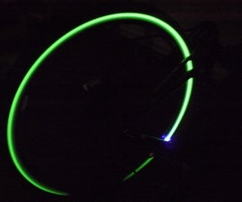Glowing bicycle tire
