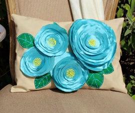 No Sew Flower Pillows