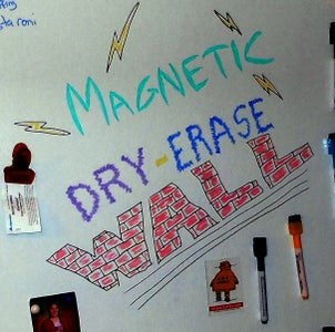 Magnetic Dry-Erase Wall!