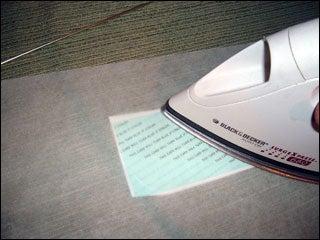Iron Skin Onto Card