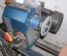 How to attach a flap disk to a wood lathe.