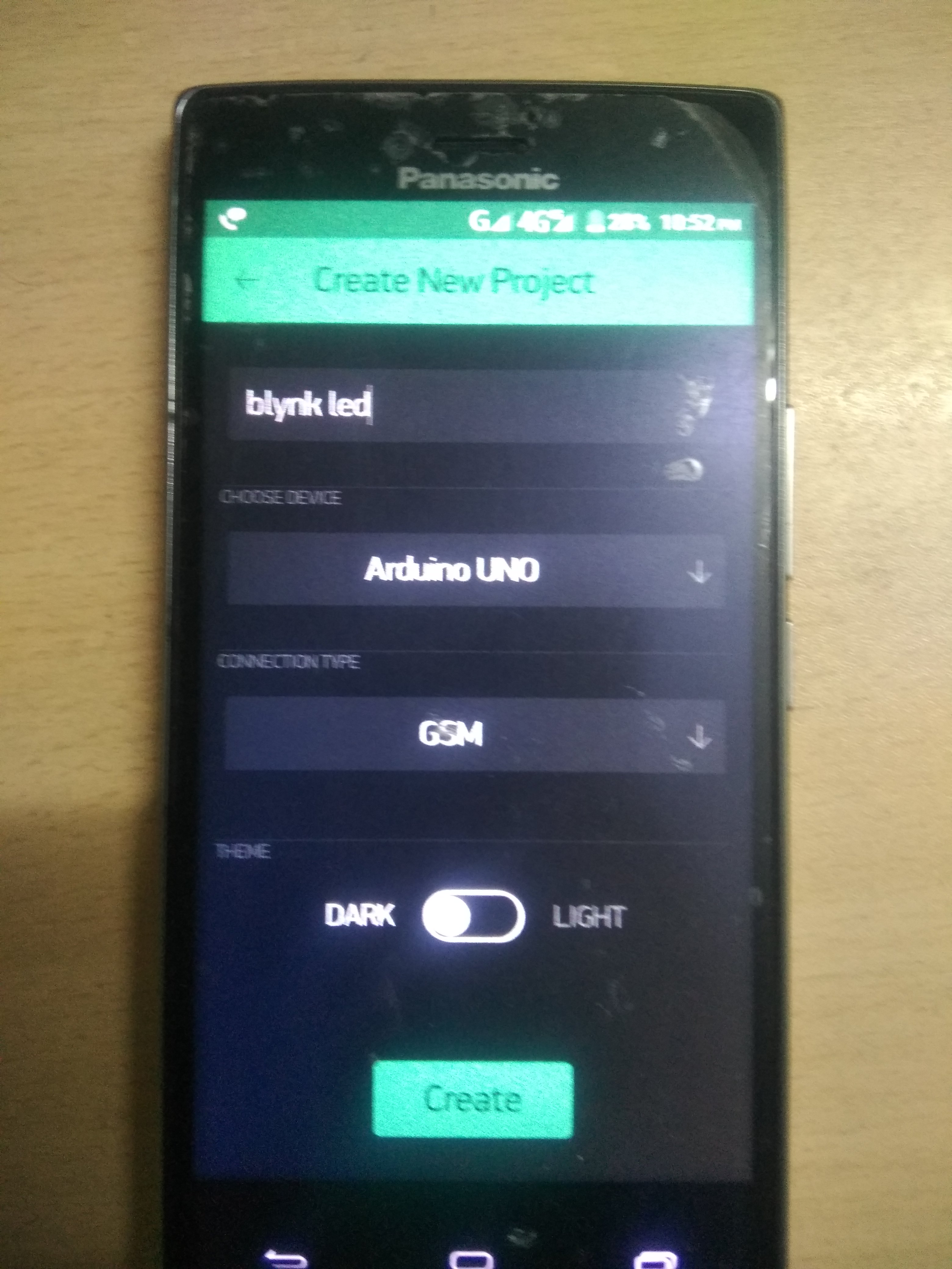 Picture of Create Your Project on Blynk App and Copy the Auth Token on Arduino Software