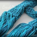 BLUEtifully Ribbed Scarf
