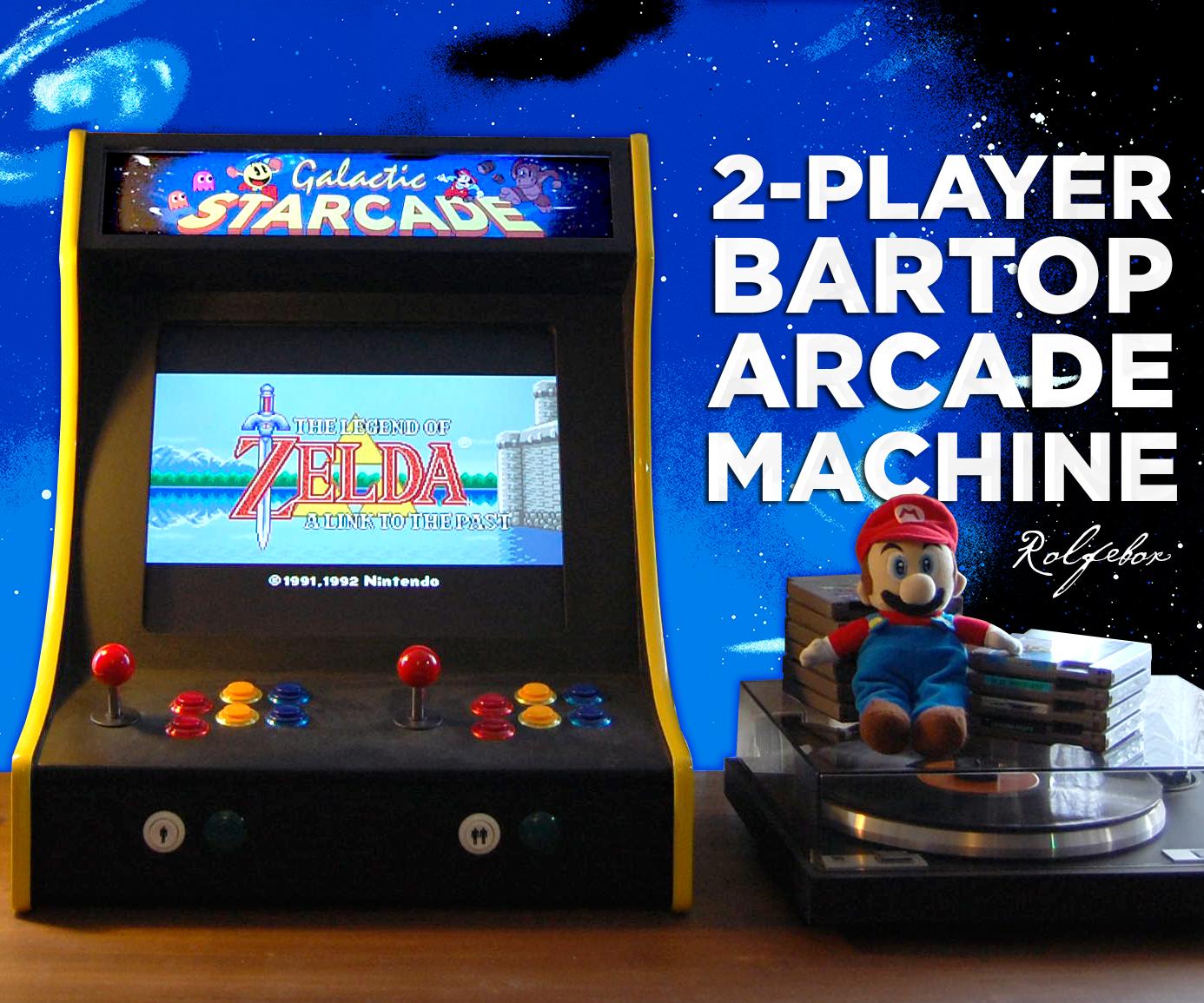 2-Player Bartop Arcade Machine (Powered by Pi)