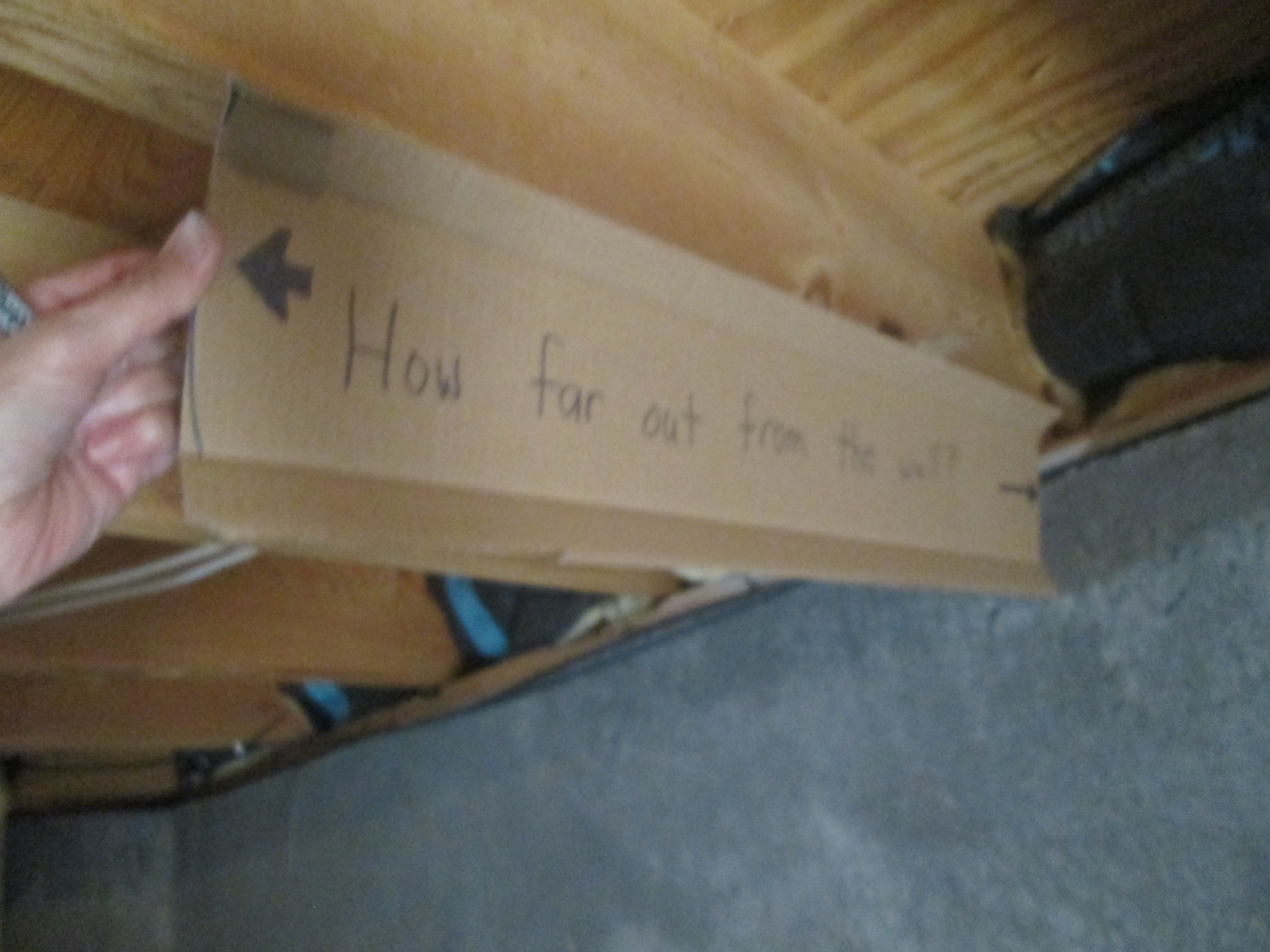 Picture of Measure and Mark the Joists.