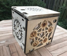 Wooden Programmable Puzzle Box