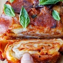 Babka Pizza: Swirled layers of pizza bread and cheese...
