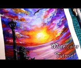 How to Paint Sunset With Watercolors