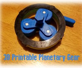 3D Printable Planetary Gear