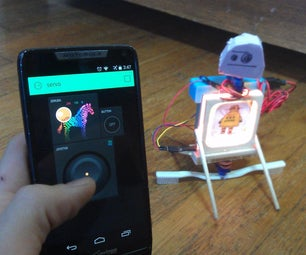 The Walking, Talking, Smarphone Controlled Instructables Robot