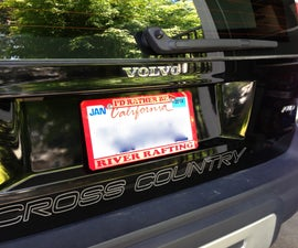 Laser-cut Acrylic License Plate Frame