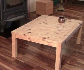 Coffee Table Made Form a Single 2x4