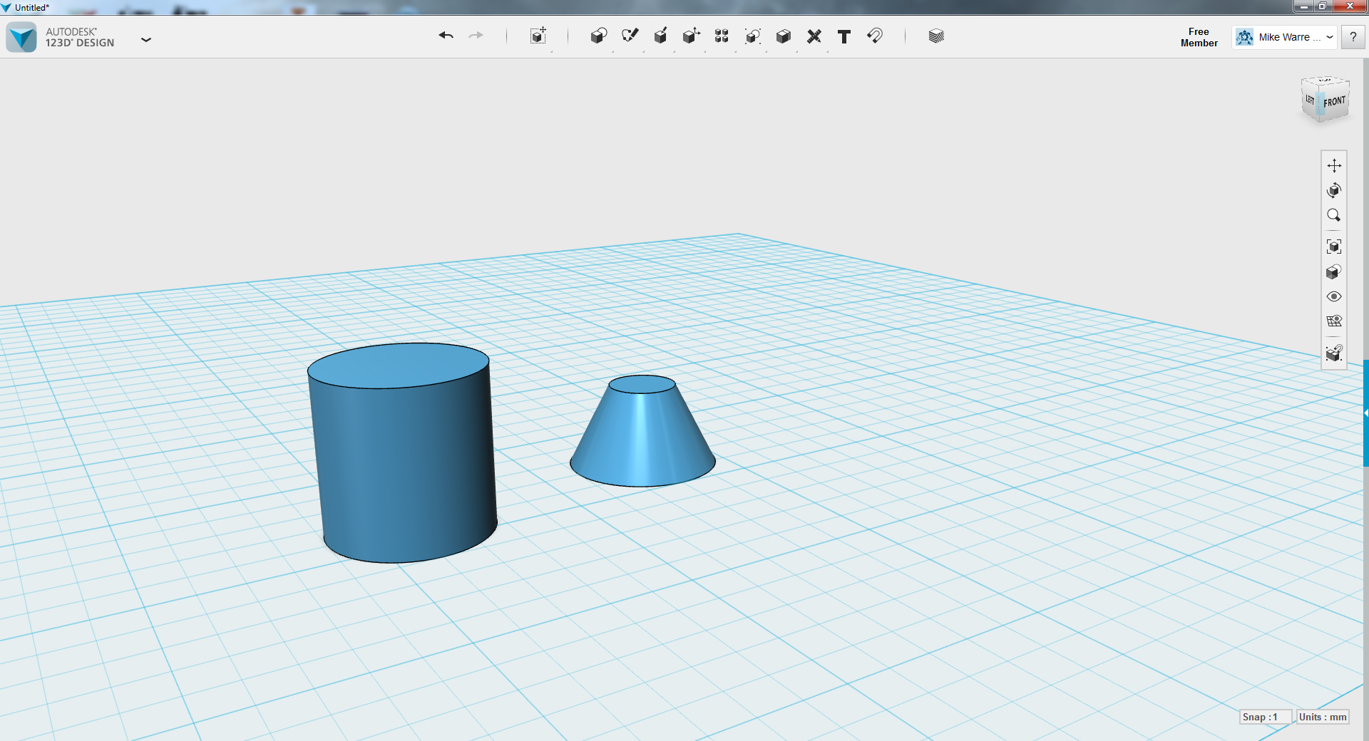 Picture of TinkerCAD - Lamp Base Part 1 (align)