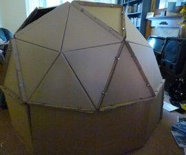 Cardboard geodesic play den