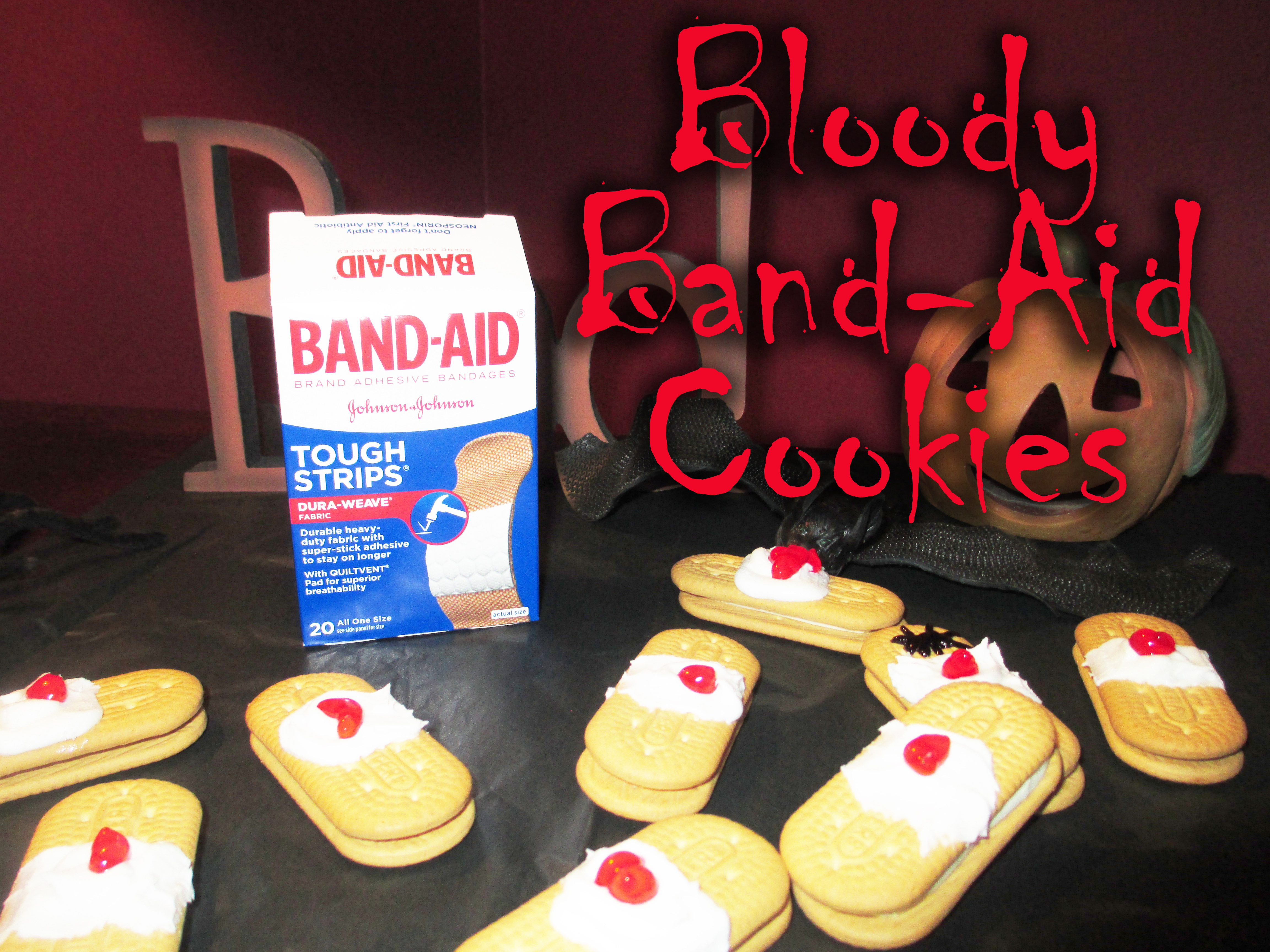 Picture of Bloody Band-Aid Cookies for Halloween