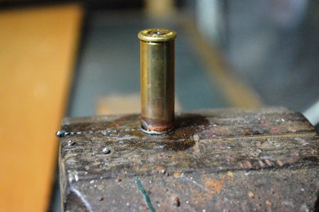 Soldering the Flange to the Bullet Case