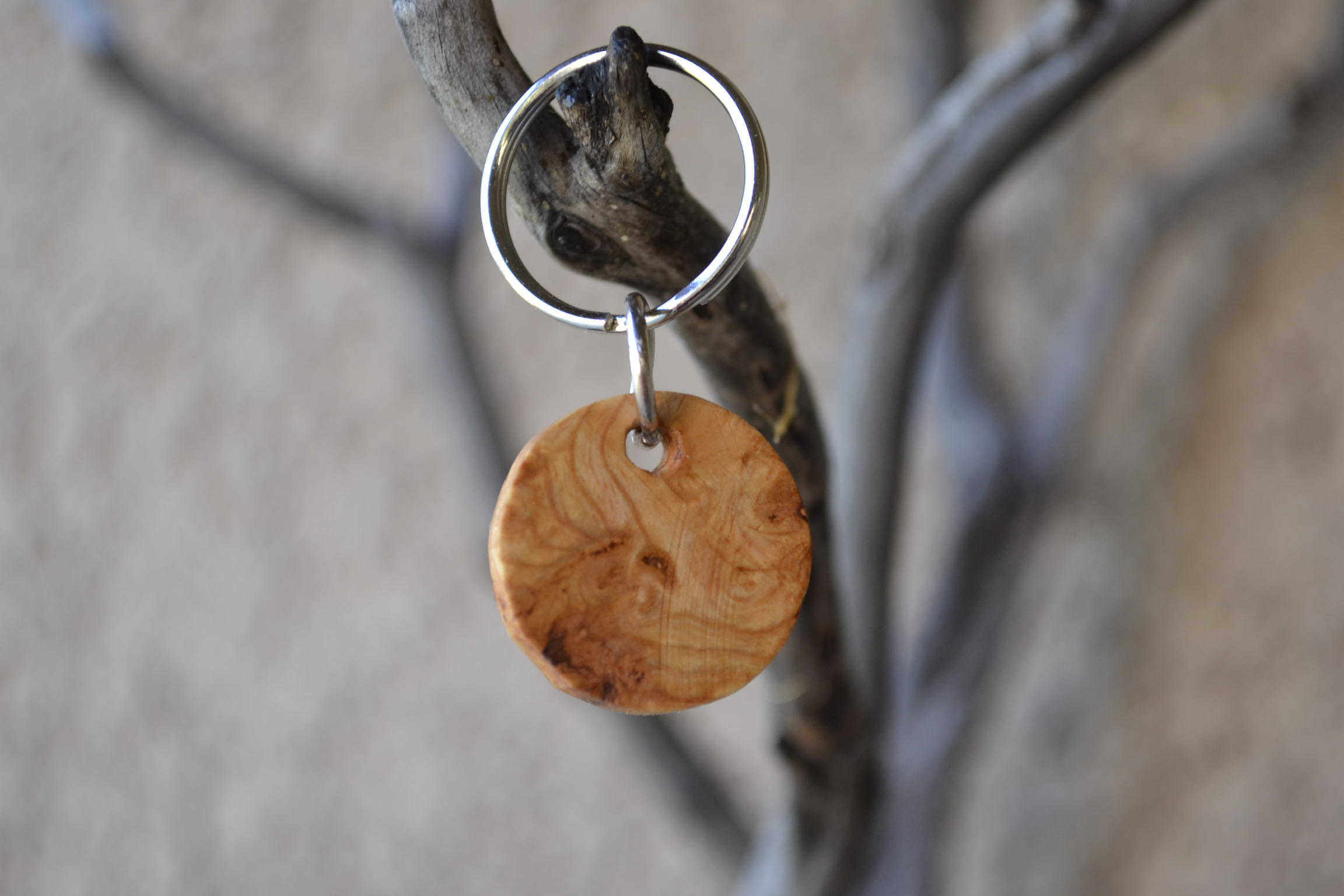 Picture of Handcrafted Burl Keychain!! (EASY)