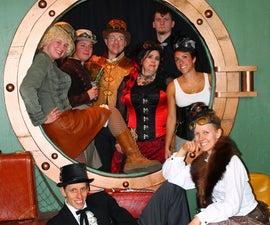 Steampunk Porthole Photo Backdrop