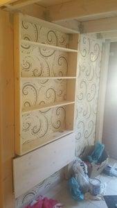 Shelves and Foldable Desk