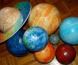 Papier Mache Planets