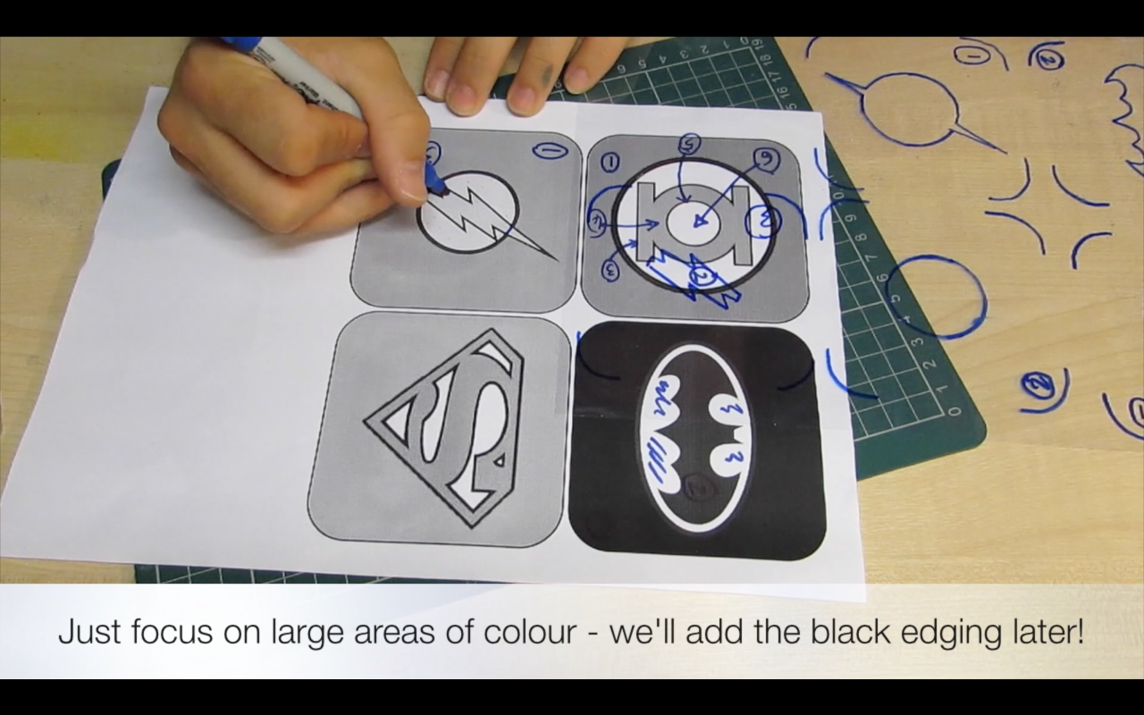 Picture of Tracing and Cutting the Stencil Shapes