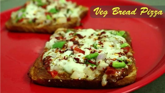 Veg Bread Pizza - Who's Hungry