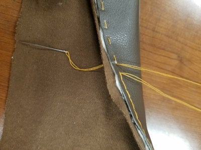 Sewing Linen to Edges