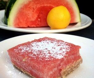 Sweet & Sour Watermelon-Lemon Dessert Bars