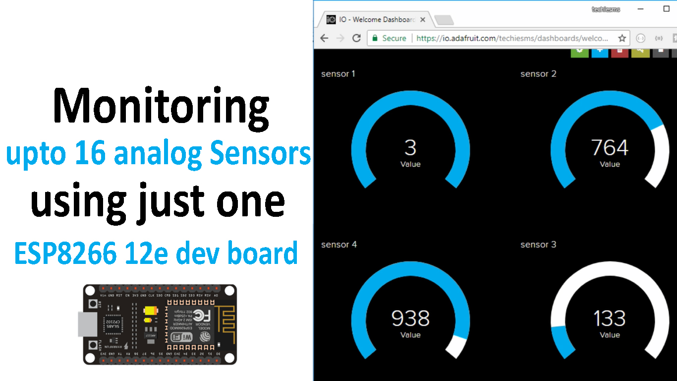 Picture of Monitoring 16 Analog Sensors Data Using ESP8266 12e Board