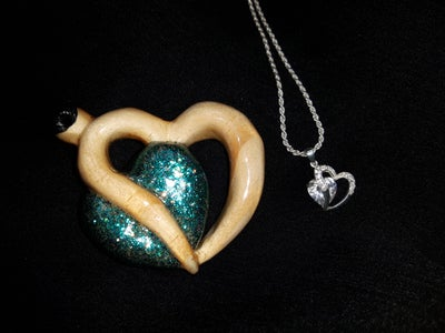 Hand Carved Heart Pendant