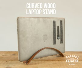 Curved Wood Laptop Stand