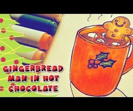How to Draw Gingerbread Man in Hot Chocolate